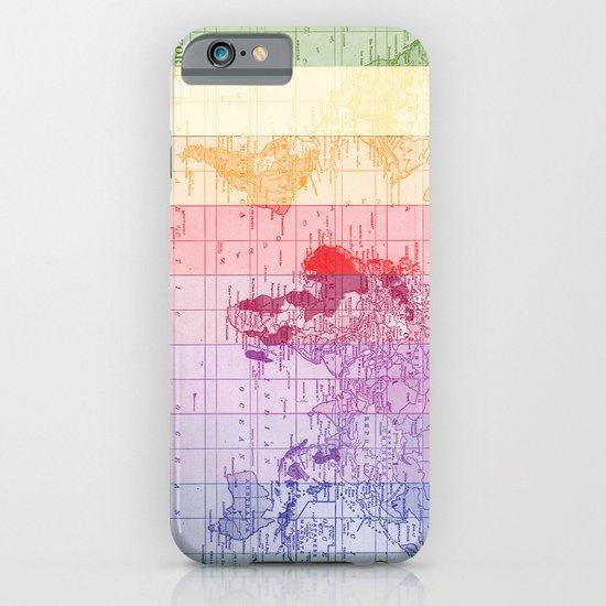 Rainbow World Map iPhone & iPod Case