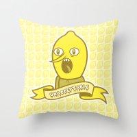 LemonGrunge Throw Pillow
