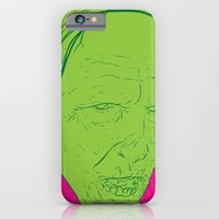 iPhone & iPod Case featuring Neon Zombie by Matthew Bartlett