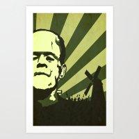 The Frankenstein Monster Art Print