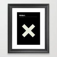 Nihilism Framed Art Print