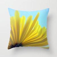 Yellow Chrysanthemum 301 Throw Pillow