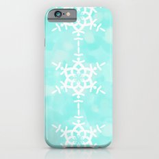 Snowflake Aqua Blue iPhone 6s Slim Case