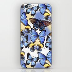 Pattern with butterflies iPhone & iPod Skin
