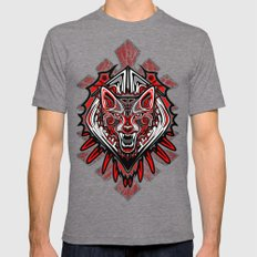 Wolf Tattoo Style Haida Art Mens Fitted Tee Tri-Grey SMALL