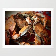 Maryland Crabs Art Print