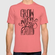 Grow Where You Are Planted Mens Fitted Tee Pomegranate SMALL