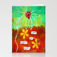 Creative, Brave, Courageous and Free... Stationery Cards