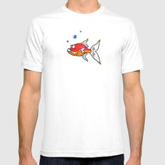 Two Tone SMALL White Mens Fitted Tee