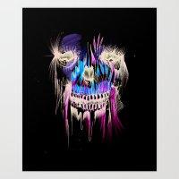 Face Illustration 5 Art Print