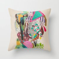 TROPICANA MACAW  Throw Pillow