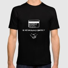 Emergency Contact Mens Fitted Tee Black SMALL