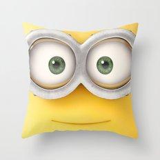 minion smile Throw Pillow