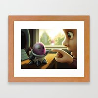 First Contact Framed Art Print