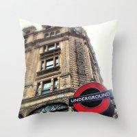 Harrods, London Throw Pillow