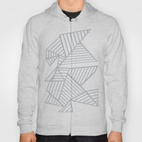 Abstraction Lines Zoom Grey Hoody