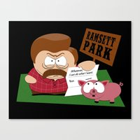 South Parks and Rec Canvas Print