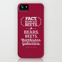 iPhone 5s & iPhone 5 Cases featuring The Office Jim Halpert Quote - Bears. Beets. Battlestar Galactica. by Noonday Design