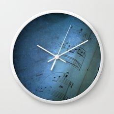 Blue Music Wall Clock