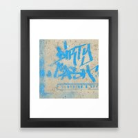 DIRTY CASH - TAGGING STR… Framed Art Print