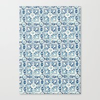 tile pattern IV - Azulejos, Portuguese tiles Canvas Print