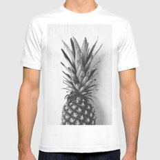 Black and white pineapple White Mens Fitted Tee SMALL