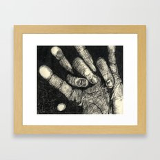 Etched Hand #1 Framed Art Print