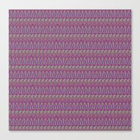 Multicolor Aztec Pattern Canvas Print