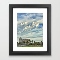 As the Sky Glides By Framed Art Print