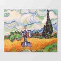 Wheat Field With Johnny … Canvas Print