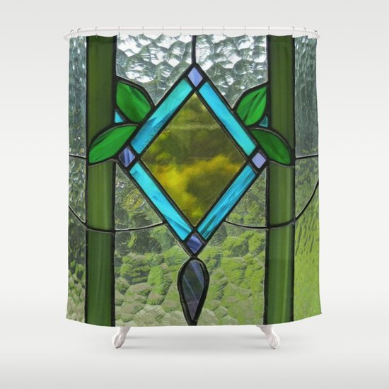 Stained Glass Shower Curtain By Debra Ulrich