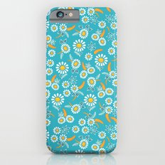Floral mix blue white iPhone 6 Slim Case