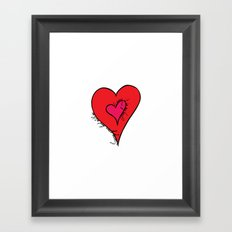 I carry your heart Framed Art Print