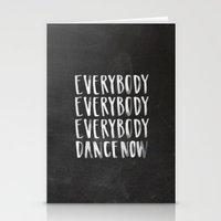 Everybody Dance Now Chalkboard Stationery Cards