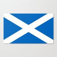 Flag of Scotland Canvas Print