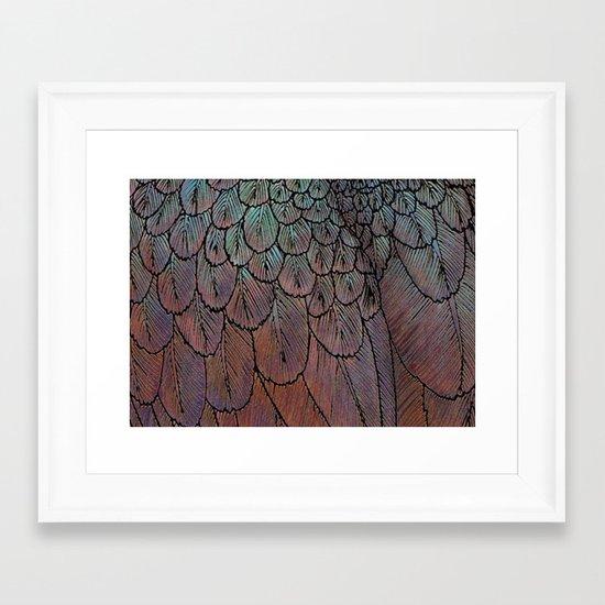 Feather Detail Framed Art Print