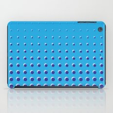 Blue on blue grid - Optical game 14 iPad Case