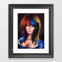 Rainbowdash Framed Art Print