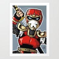 A Incredible Ninja Art Print