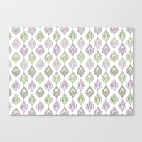 Pretty Leaves All In A L… Canvas Print