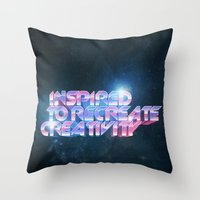 Inspired Recreativity. Throw Pillow