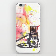 Vintage Rolleiflex Camera Painting iPhone & iPod Skin