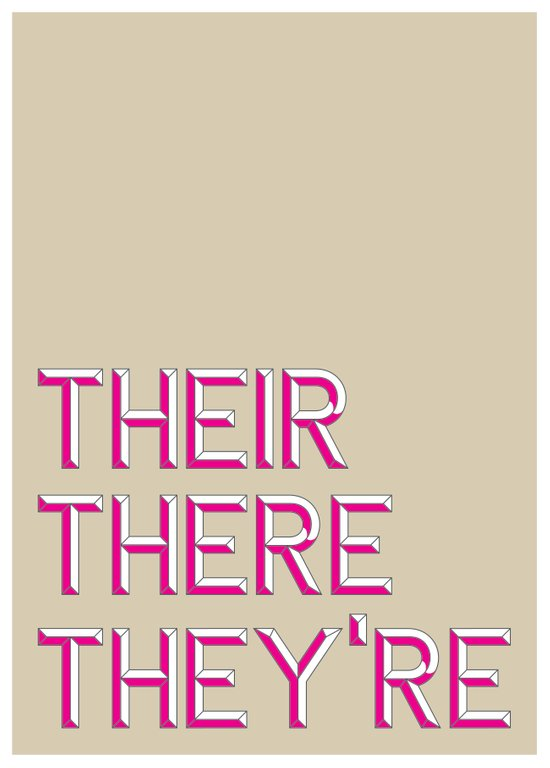 Their, There, They're Art Print