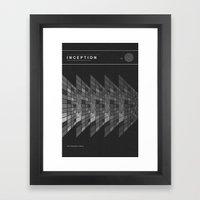 Inception Movie Poster Framed Art Print