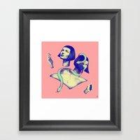 Slit-her Framed Art Print