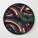 Swirl Madness Wall Clock