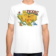 Postcard from Texas print White Mens Fitted Tee SMALL