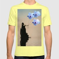Take me away Mens Fitted Tee Lemon SMALL