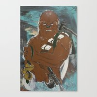 Lock And Load Chewie Canvas Print