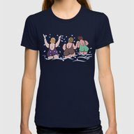 Joy At The Sea Womens Fitted Tee Navy SMALL